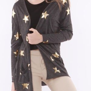 Hye Park and Lune | Charcoal Grey w/ Gold Stars